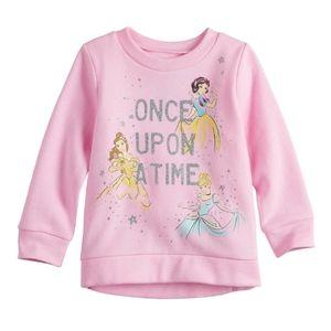 B2G1 Girl's DIsney Princesses Pink Sweatshirt